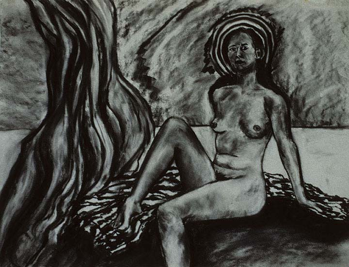 She Is charcoal drawing by Zoras Garden Lore Stephan