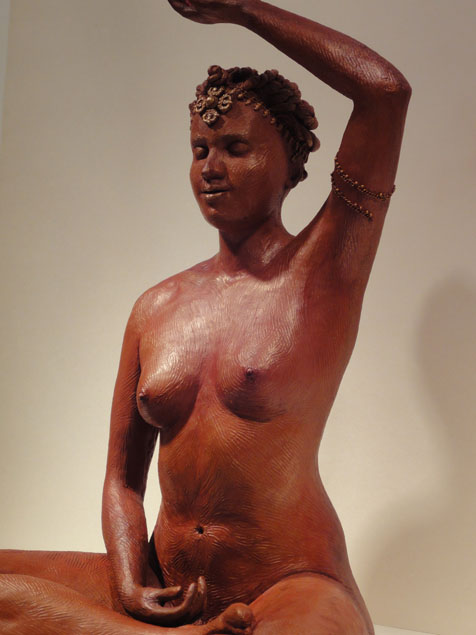 Fire Goddess Sculpture in cold cast bronze with patina