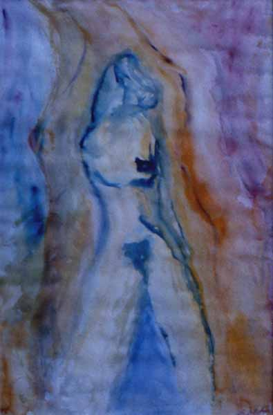 Nude watercolor painting Zoras Garden Lore Stephan