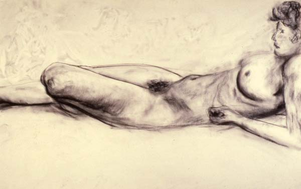 Torso charcoal drawing Zoras Garden Lore Stephan