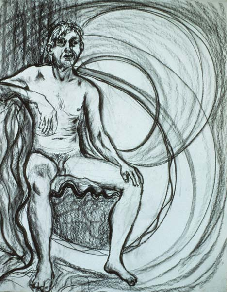 Untitled charcoal drawing Zoras Garden Lore Stephan