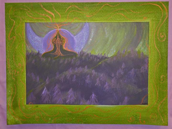 Goddess Rising painted giclee on canvas by Zoras Garden Lore Stephan